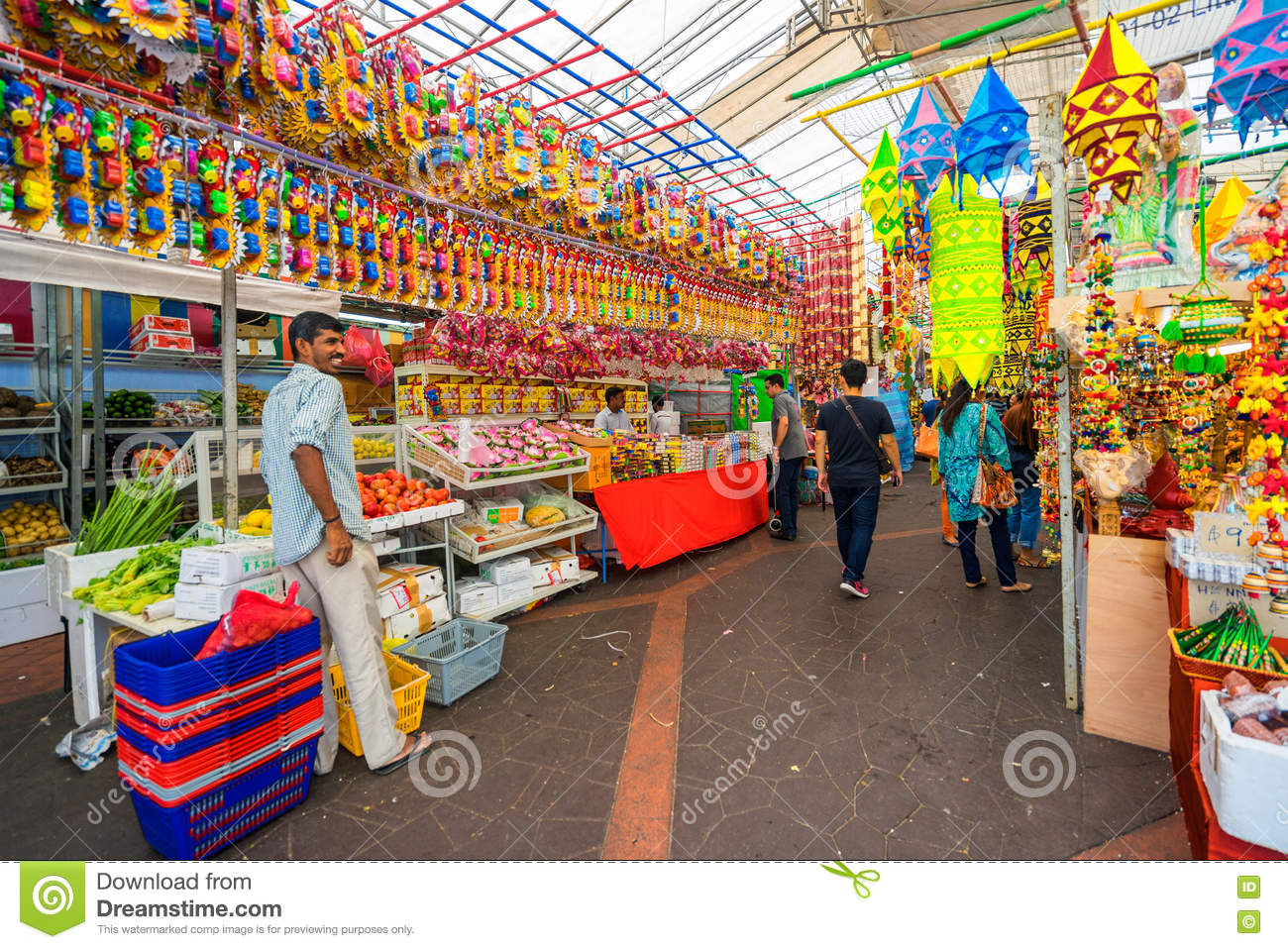 Gift shops at Little India, Singapore