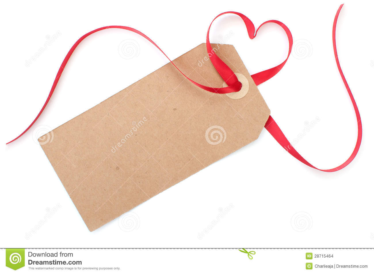 Tag: Gift Tag With Heart Bow Stock Images