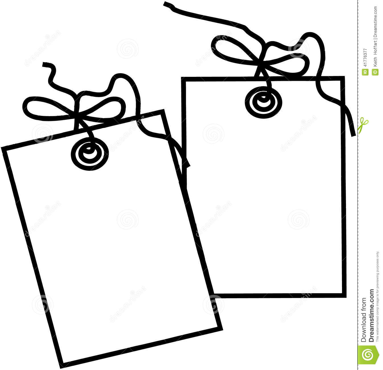 Gift tag template Cartoon Vector Clipart created in Adobe Illustrator ...