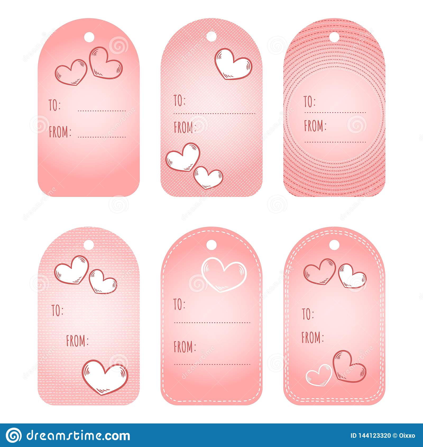 image regarding Cute Gift Tags Printable named Present Tags Labels. Valentine Working day Printable Tags Mounted. Get pleasure from
