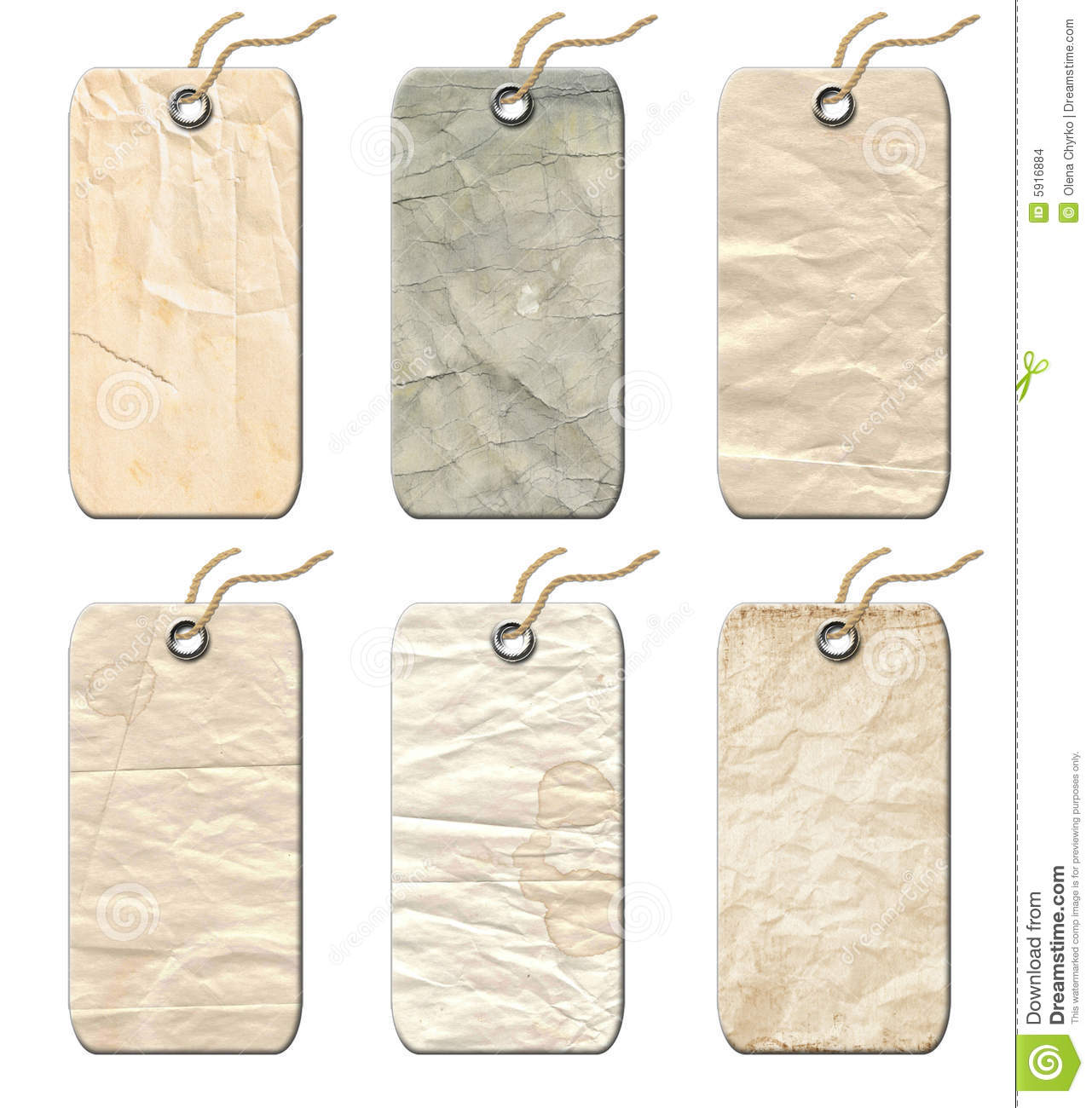 Gift Tags Old Fashioned Stock Images Image 5916884