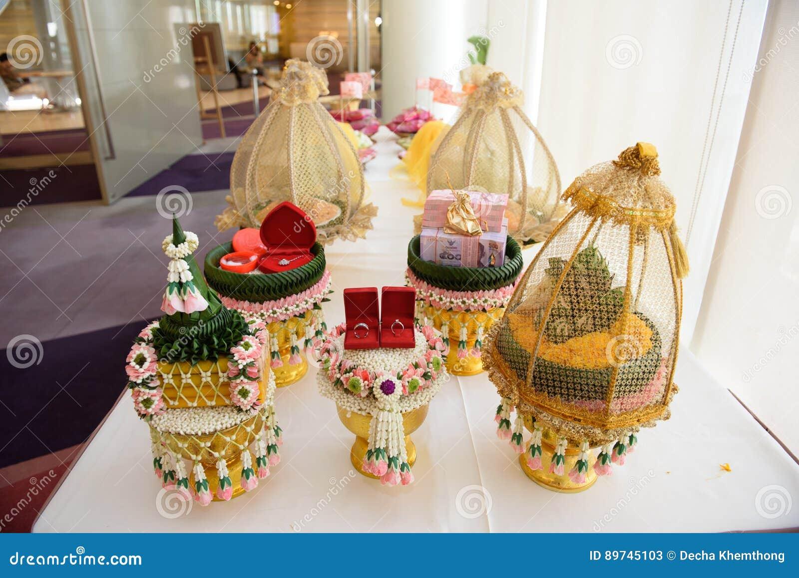 Gift For Thai Wedding Stock Image Image Of Bank Background 89745103
