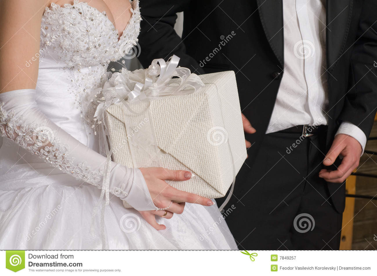 Gift To A Newly-married Couple. Royalty Free Stock PhotographyImage ...