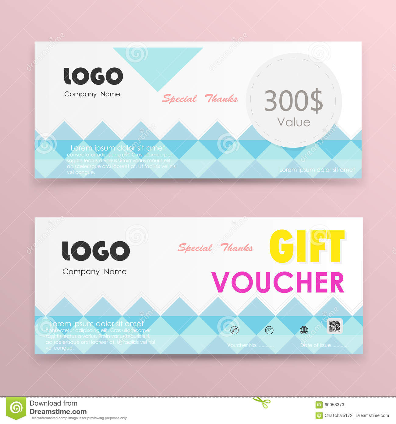gift voucher background or certificate coupon template stock gift voucher background or certificate coupon template