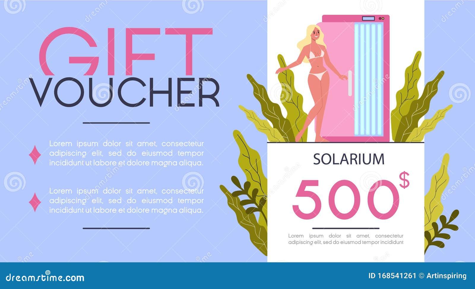 Gift Voucher For Beauty Center Concept Beauty Salon Voucher For Procedure Stock Vector Illustration Of Cartoon Design 168541261