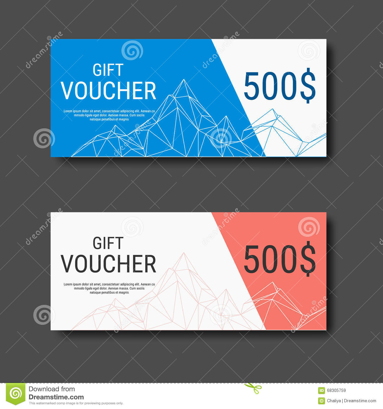 Gift Voucher Certificate Coupon Template With Colorful And Modern ...