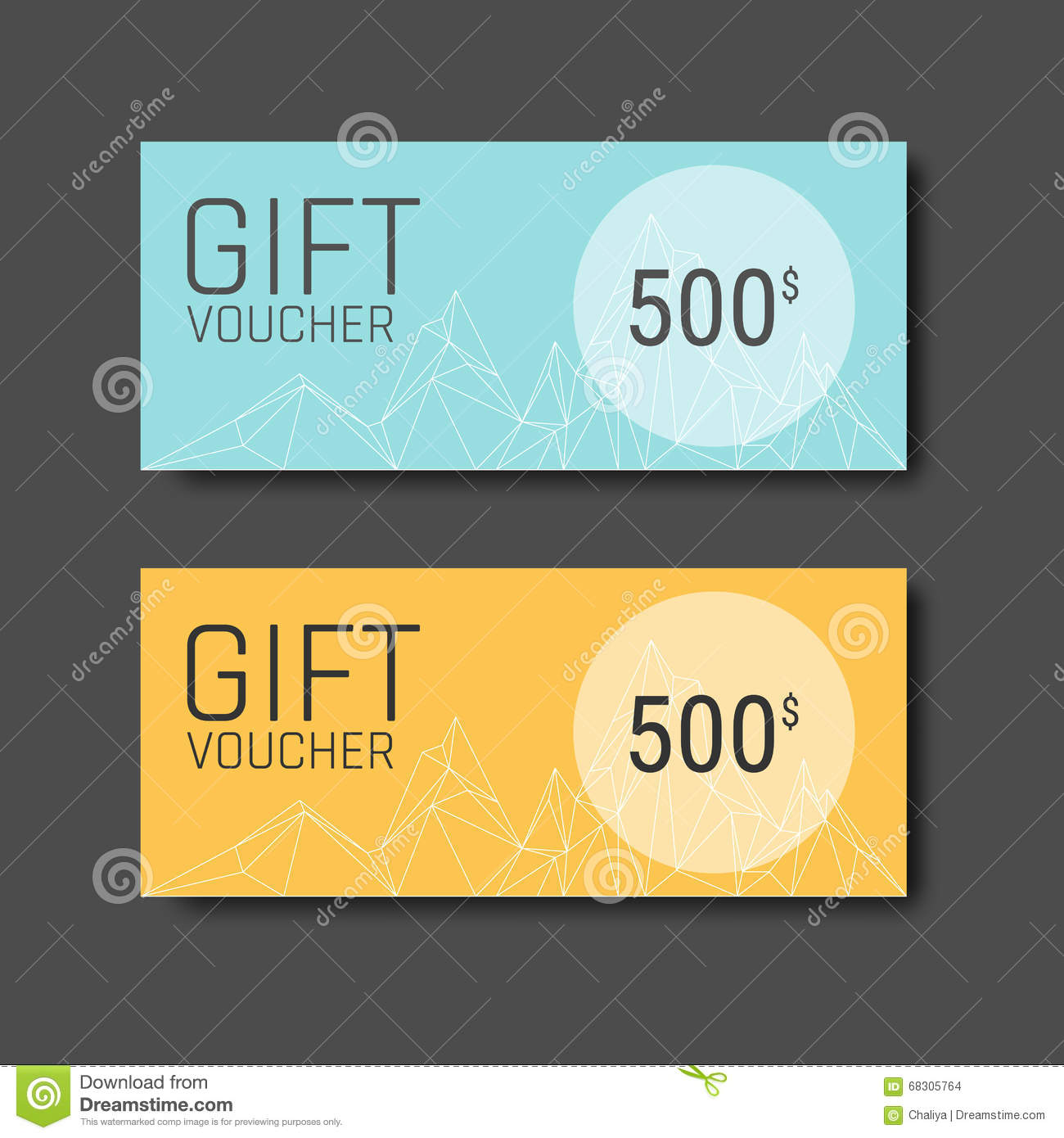 gift voucher certificate coupon template with colorful and modern