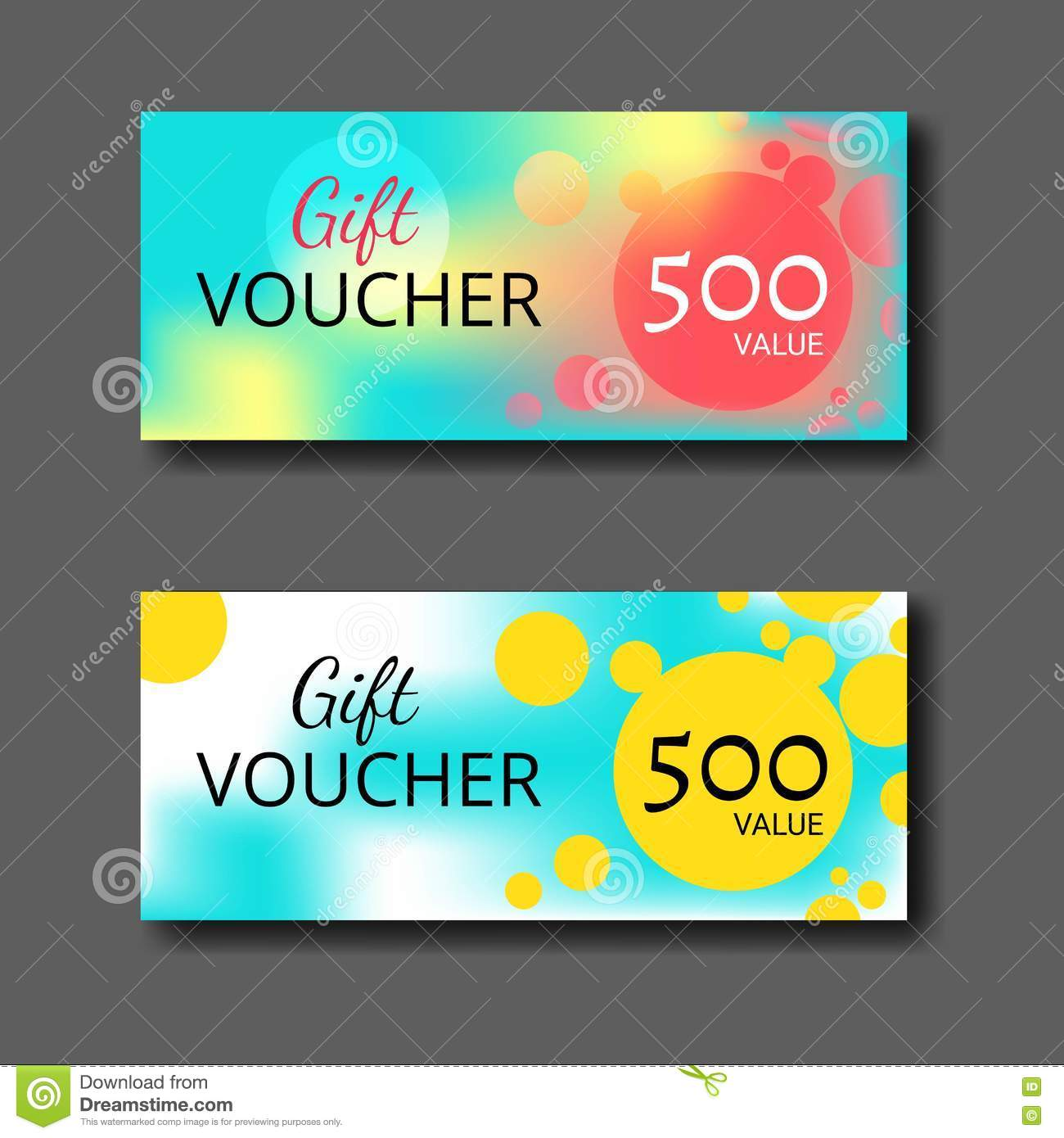Gift voucher certificate coupon template with colorful and modern gift voucher certificate coupon template with colorful and modern style can be use for business shopping card customer sale and promotion layout banner cheaphphosting Choice Image