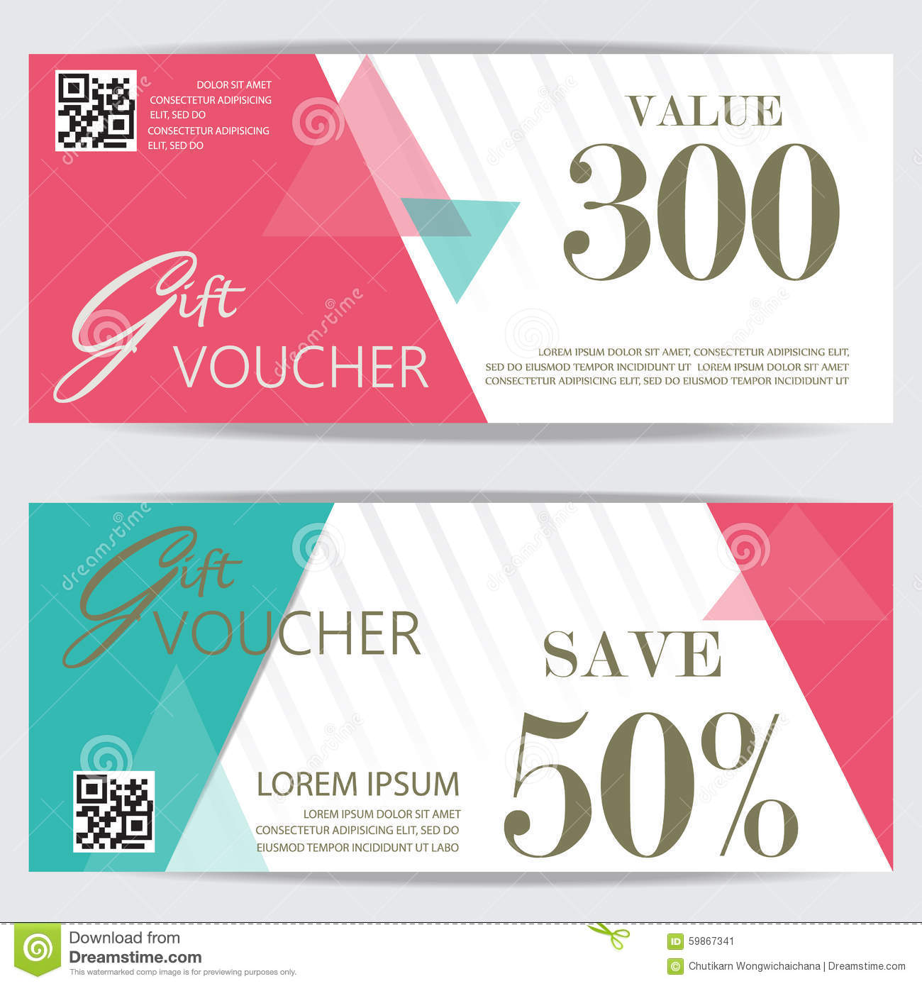 Gift Voucher Stock Vector Illustration Of Pattern Financial 59867341