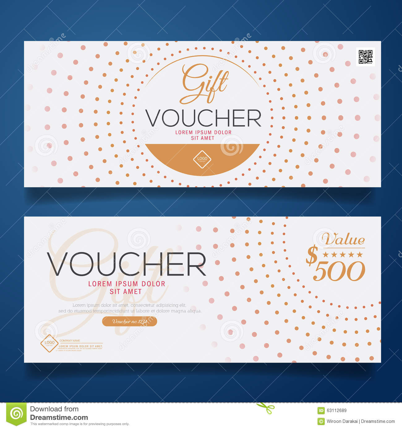 Gift Voucher Colorful,certificate Coupon Design, Vector ...