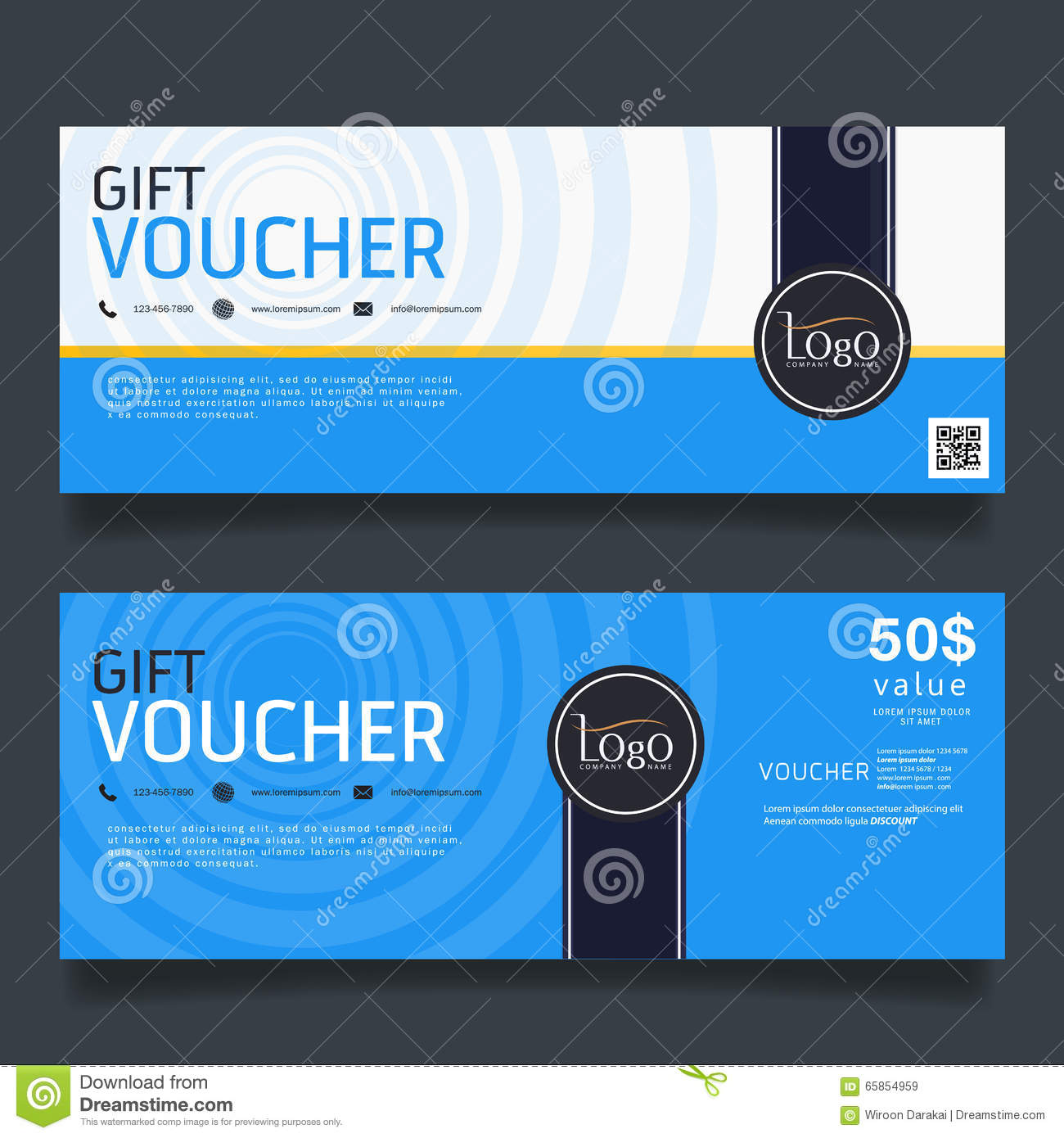 gift voucher colorful certificate coupon design vector illustration stock vector. Black Bedroom Furniture Sets. Home Design Ideas
