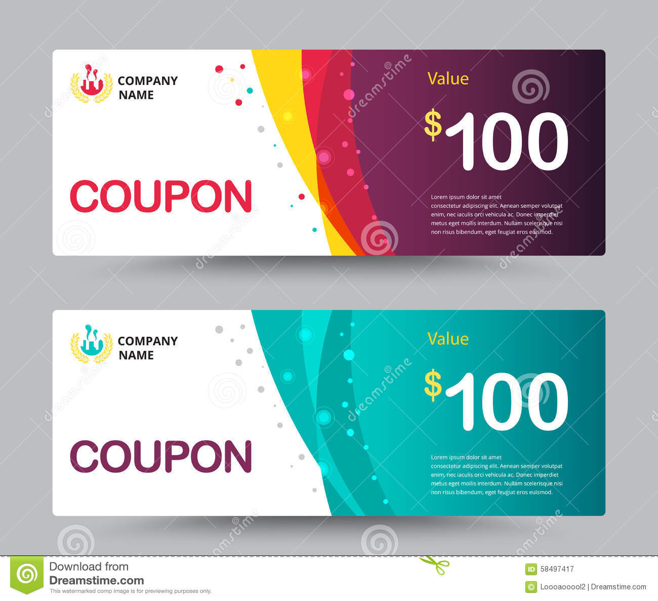 Gift Voucher Coupon Template Design For Special Time