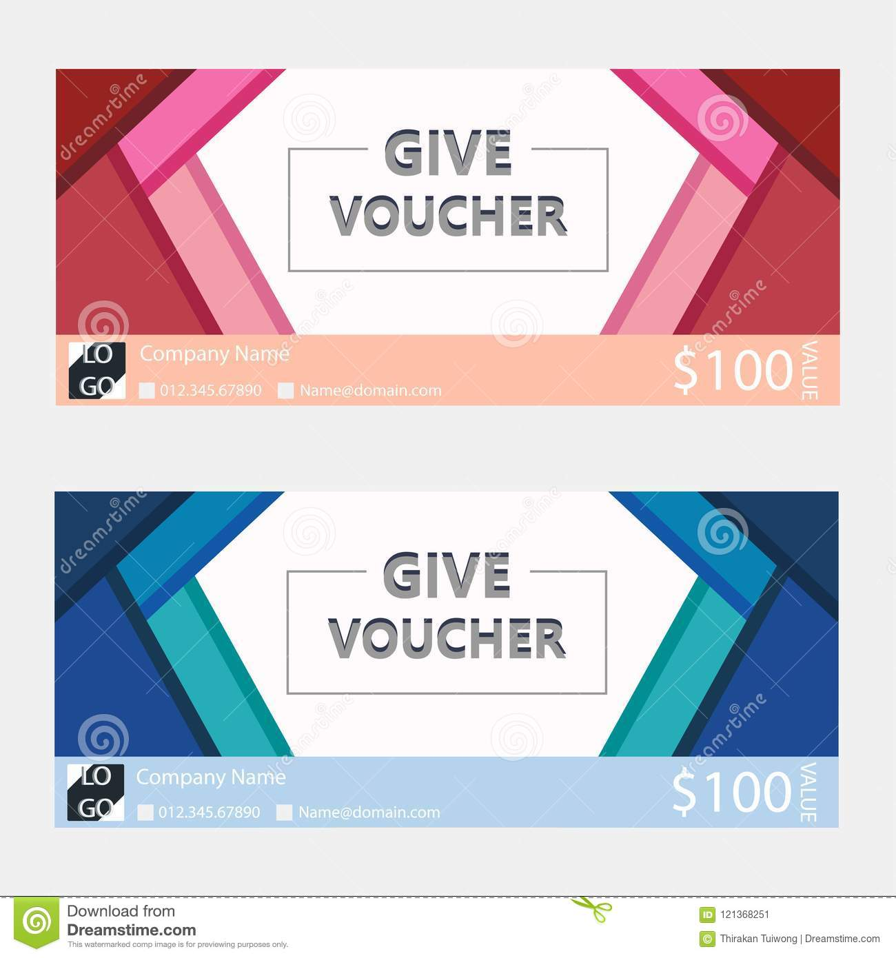 Gift vouchercoupon template with flat design stock illustration download gift vouchercoupon template with flat design stock illustration illustration of business flashek Images
