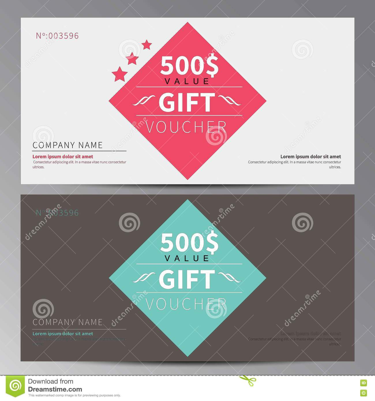 Gift Voucher, Coupon Template Stock Vector - Illustration of ...