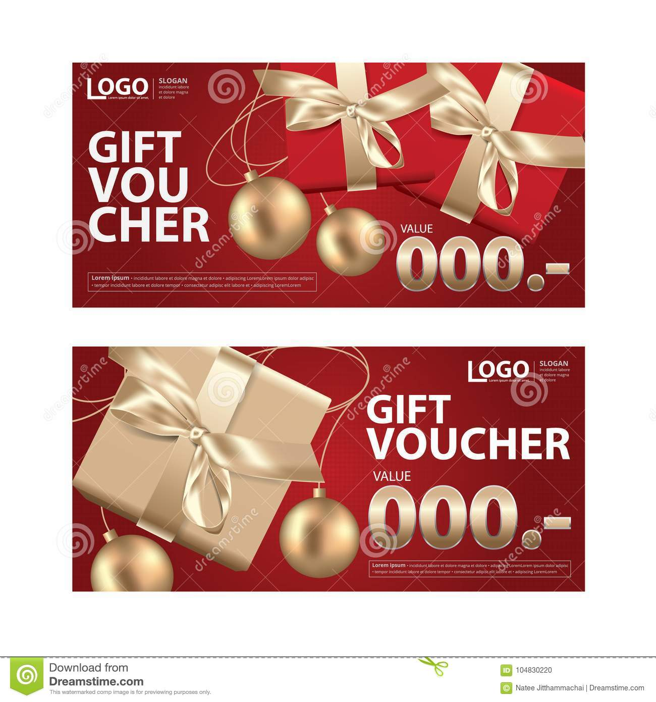 Gift Voucher Coupon Template For Your Business Stock Vector ...