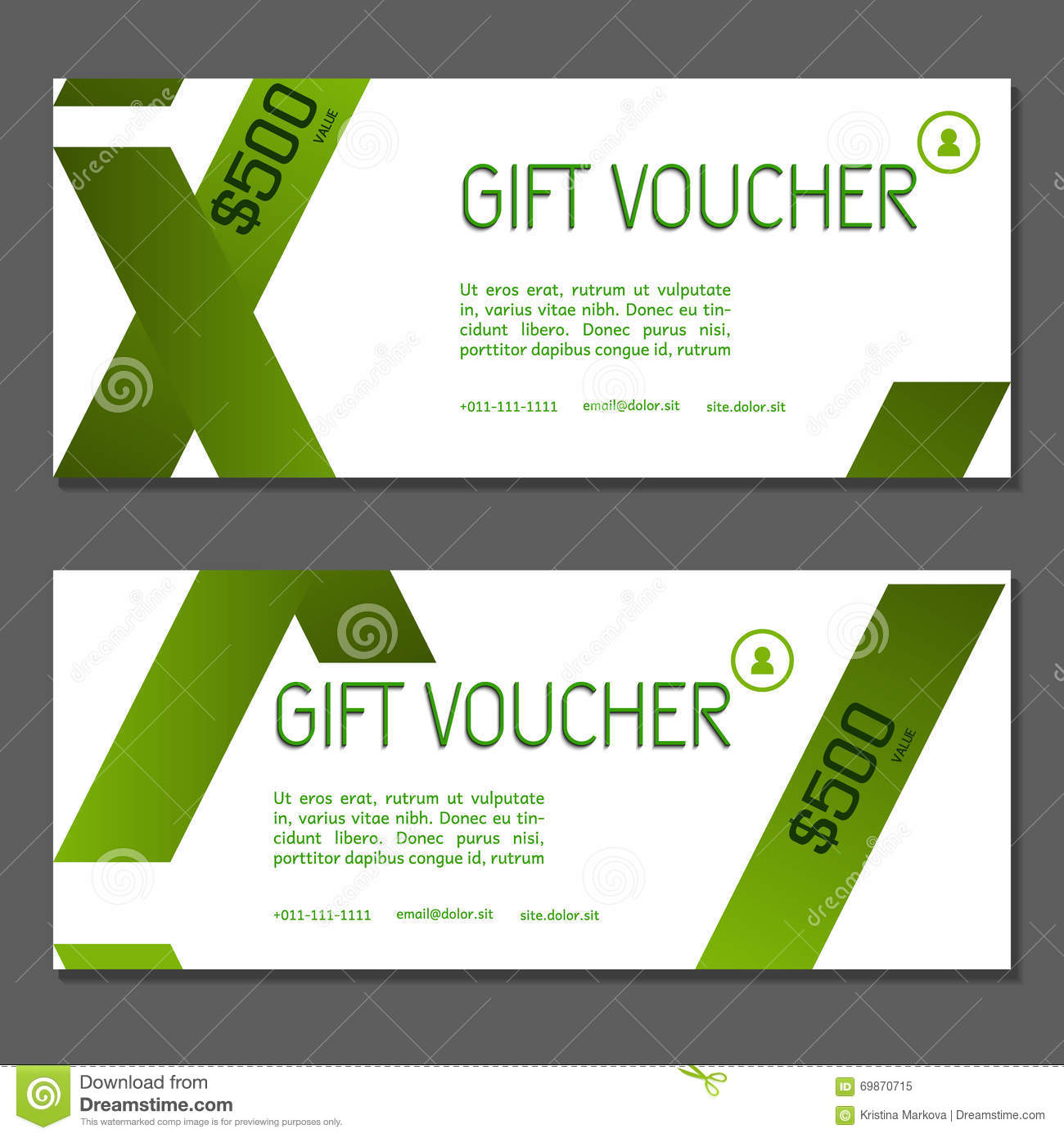 gift voucher coupon and voucher template for company corporate