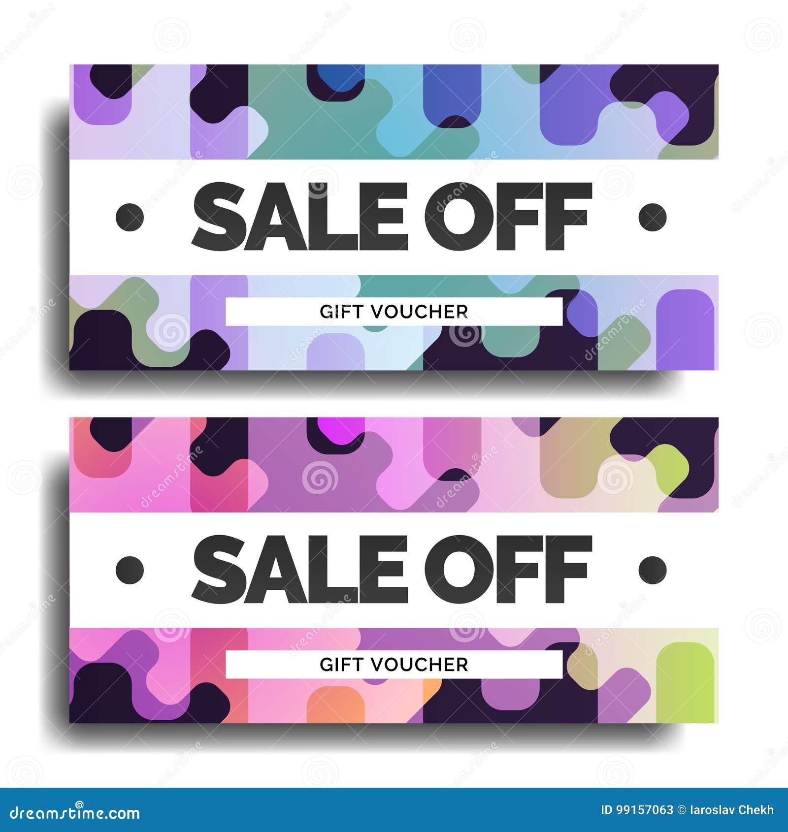 gift voucher design stock vector illustration of bill 99157063