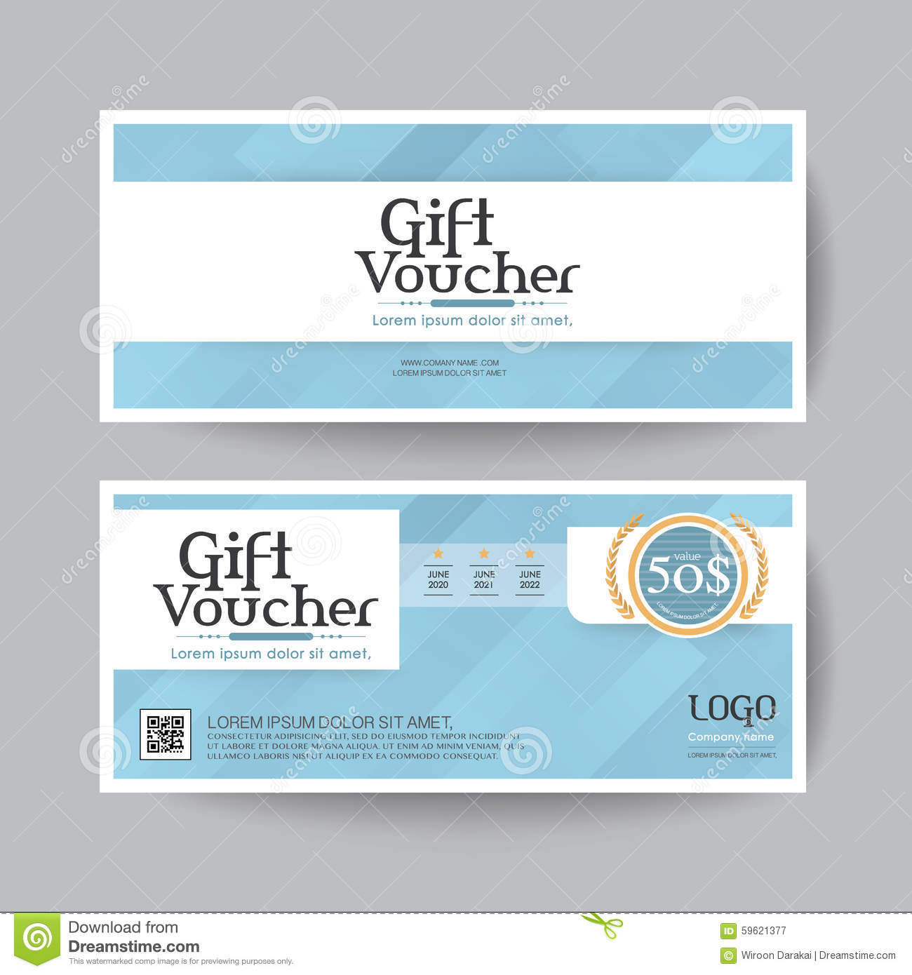 Gift voucher design vector template layout for business for Business gift certificate template