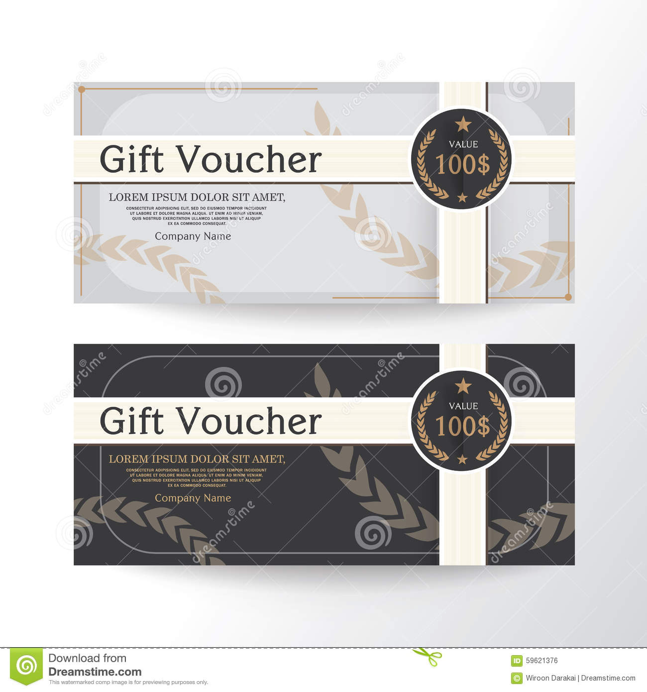 gift voucher design vector template layout for business card gift