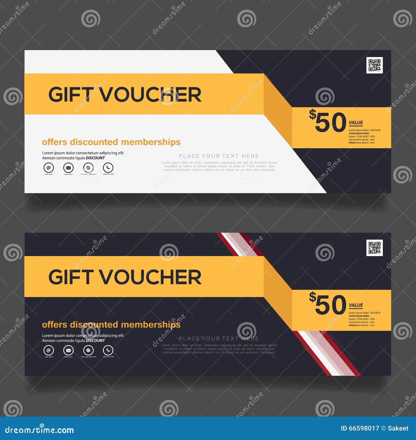 Gift Voucher Design Vector Template Stock Vector - Image ...