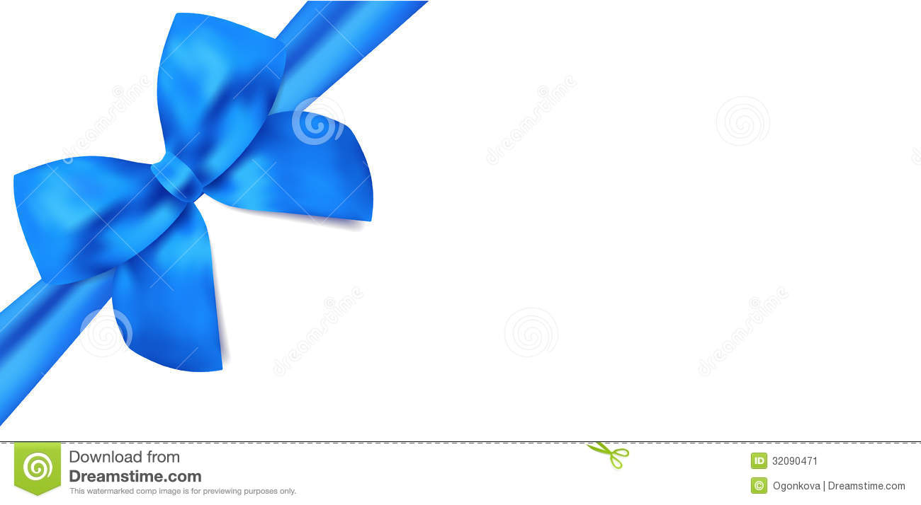 gift voucher gift certificate blue bow ribbons