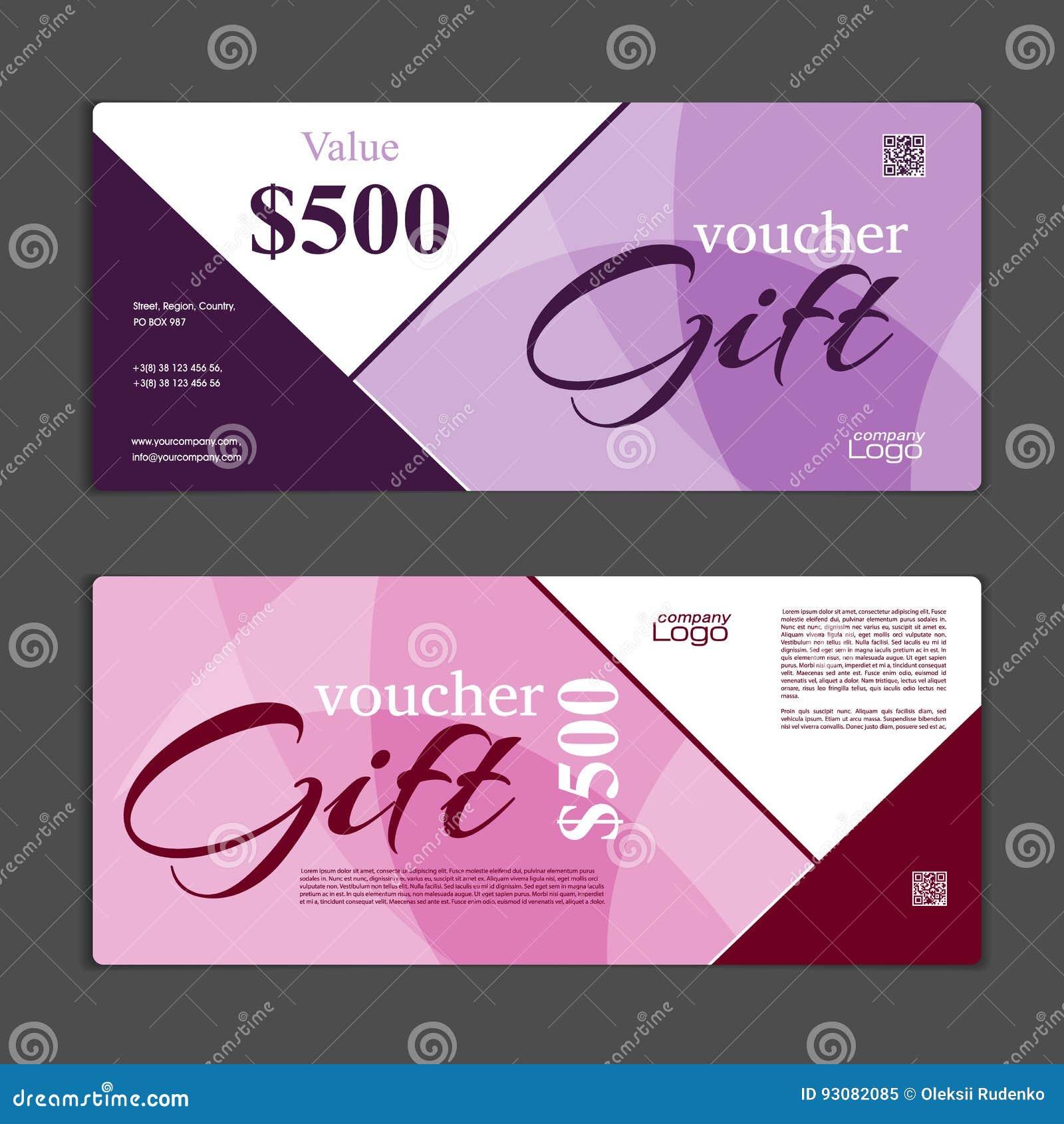 gift voucher template stock vector illustration of certificate