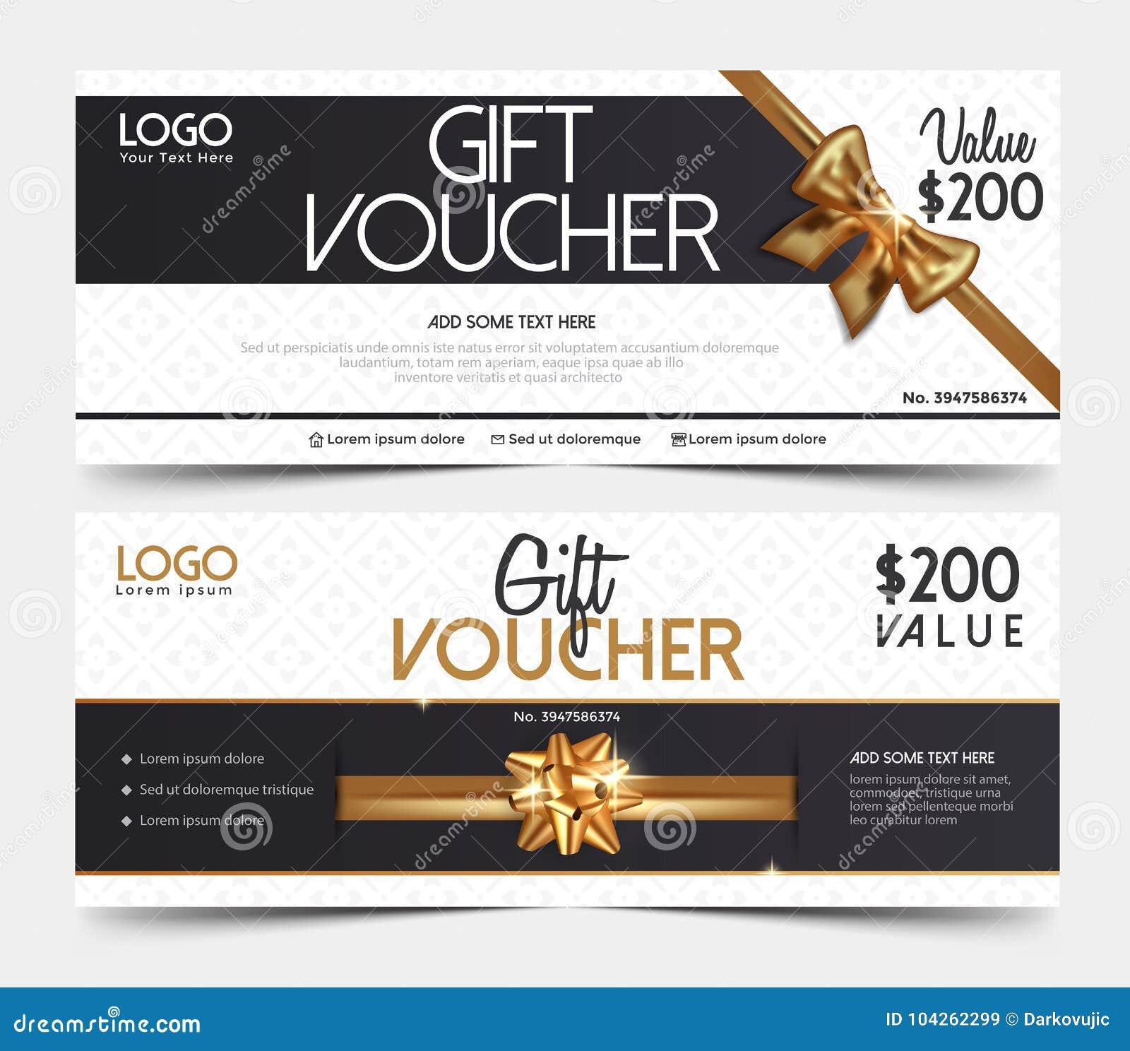vouchers design 2 stock vector illustration of exclusive 104262299