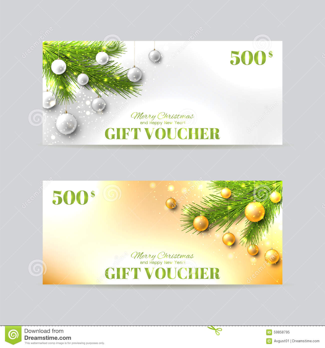 gift voucher template christmas fir tree stock vector image gift voucher template christmas fir tree