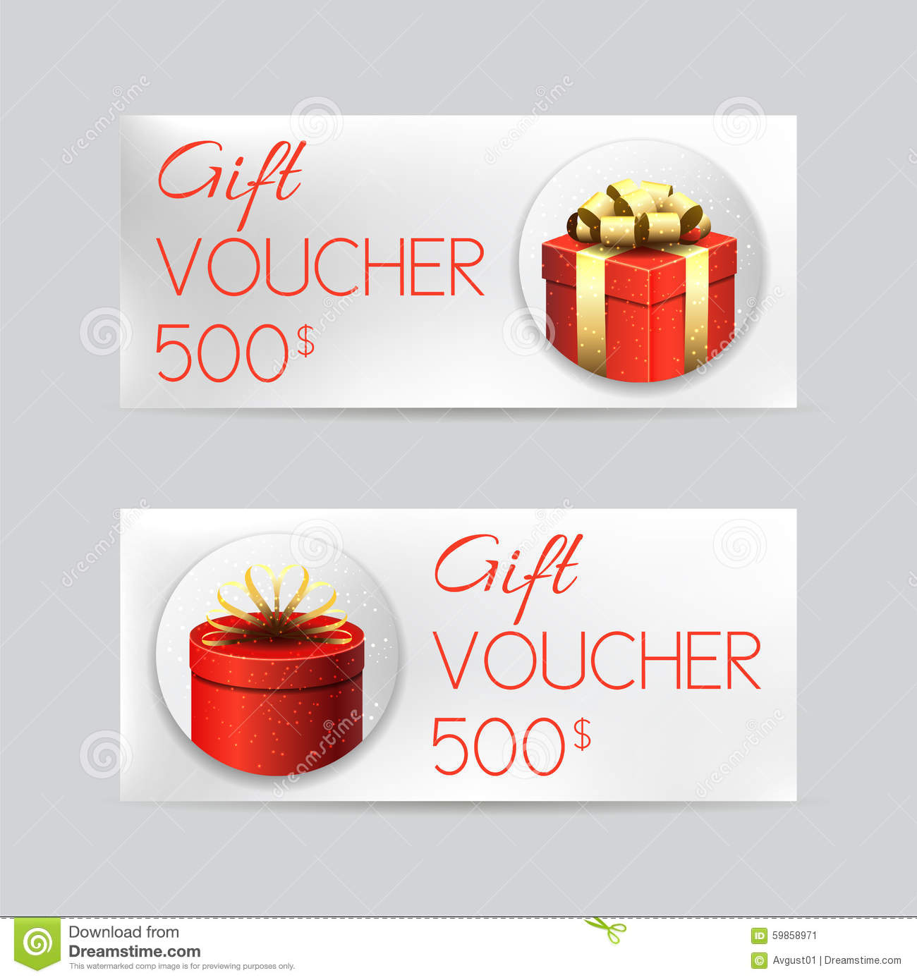 gift voucher template christmas gifts stock vector image gift voucher template christmas gifts