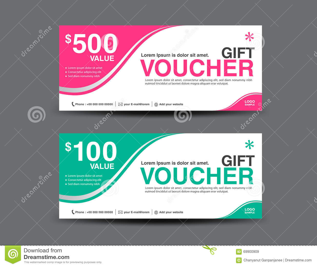 Gold gift voucher template coupon design gift certificate stock gift voucher template coupon designticketbackground design royalty free stock images xflitez Image collections