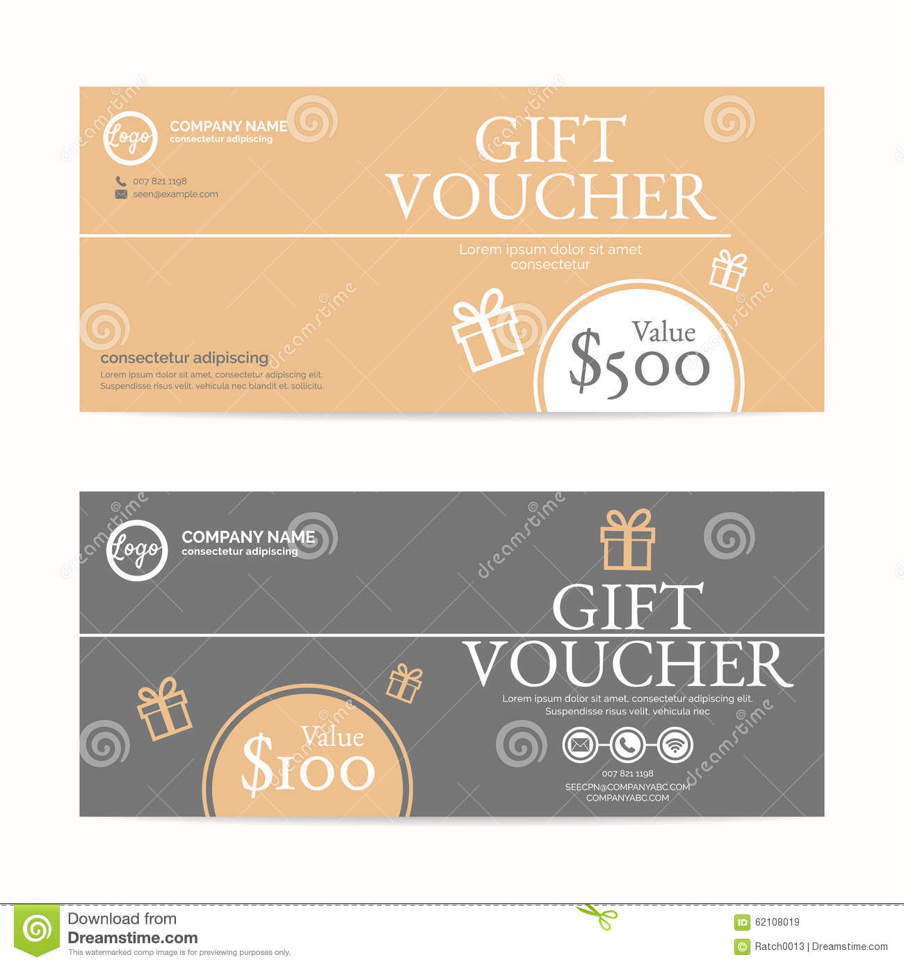 gift voucher template stock vector image of card bank 62108019. Black Bedroom Furniture Sets. Home Design Ideas