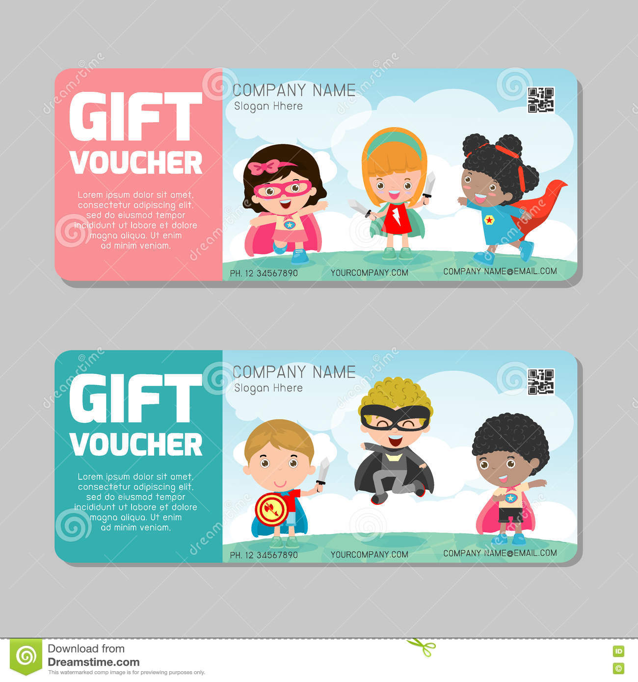 Gift voucher template and modern patternild concept voucher gift voucher template and modern patternild concept voucher template with premium pattern voucher superhero kids yelopaper Image collections