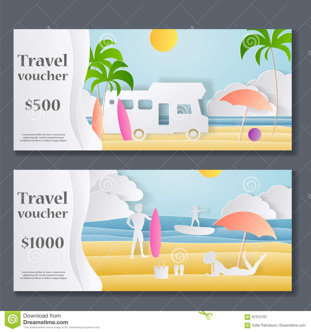 Gift voucher template paper crafted cutout world concept of royalty free vector download gift voucher template yadclub Choice Image