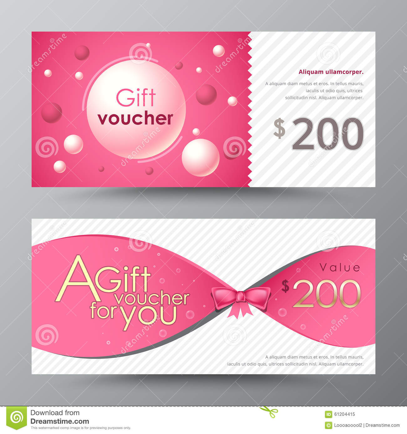 Gift Voucher Template. Promotion Card, Coupon Design.  Coupon Flyer Template