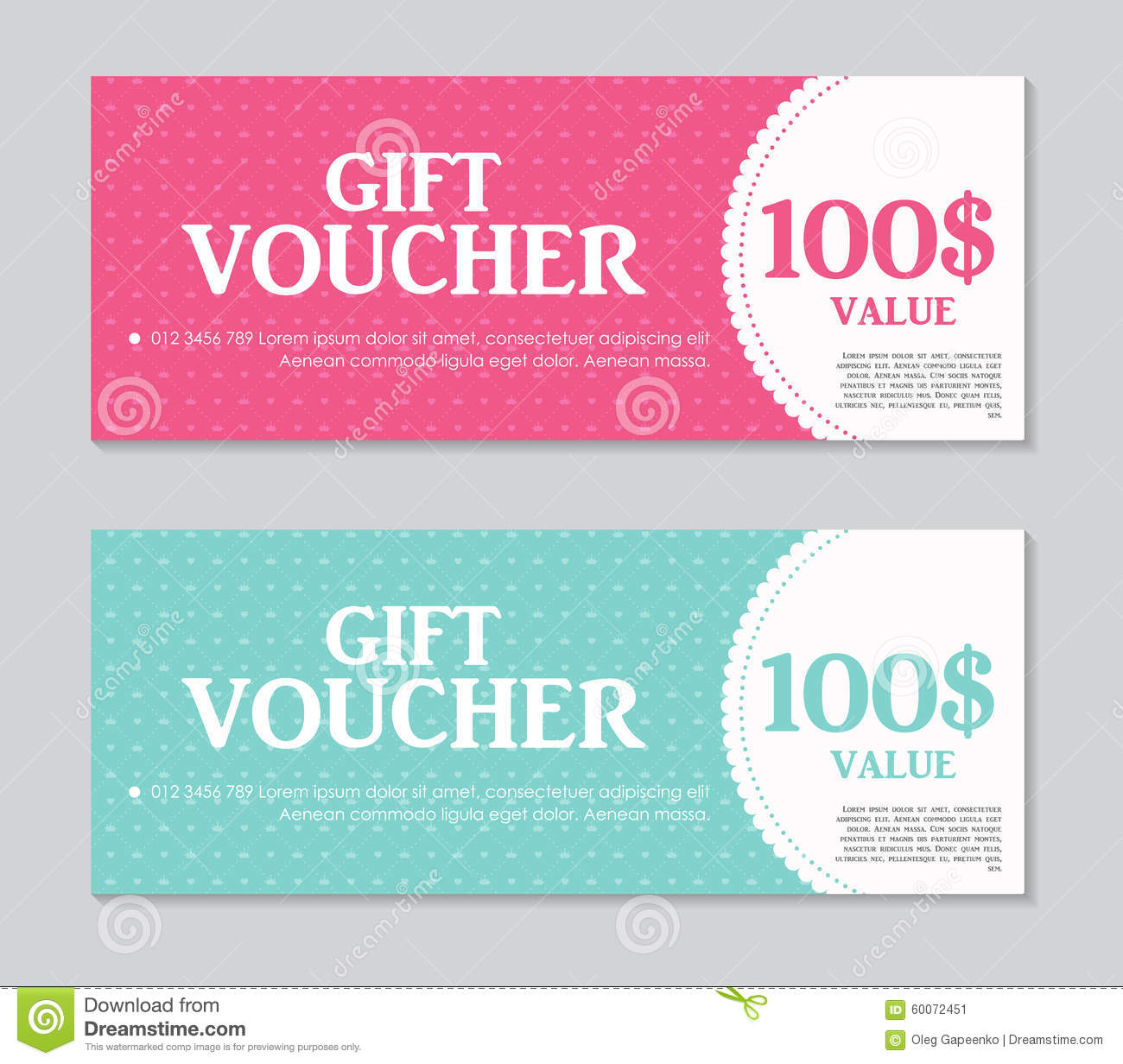 Gift Voucher Format Gift Voucher Template With Sample Text Vector Stock Vector .