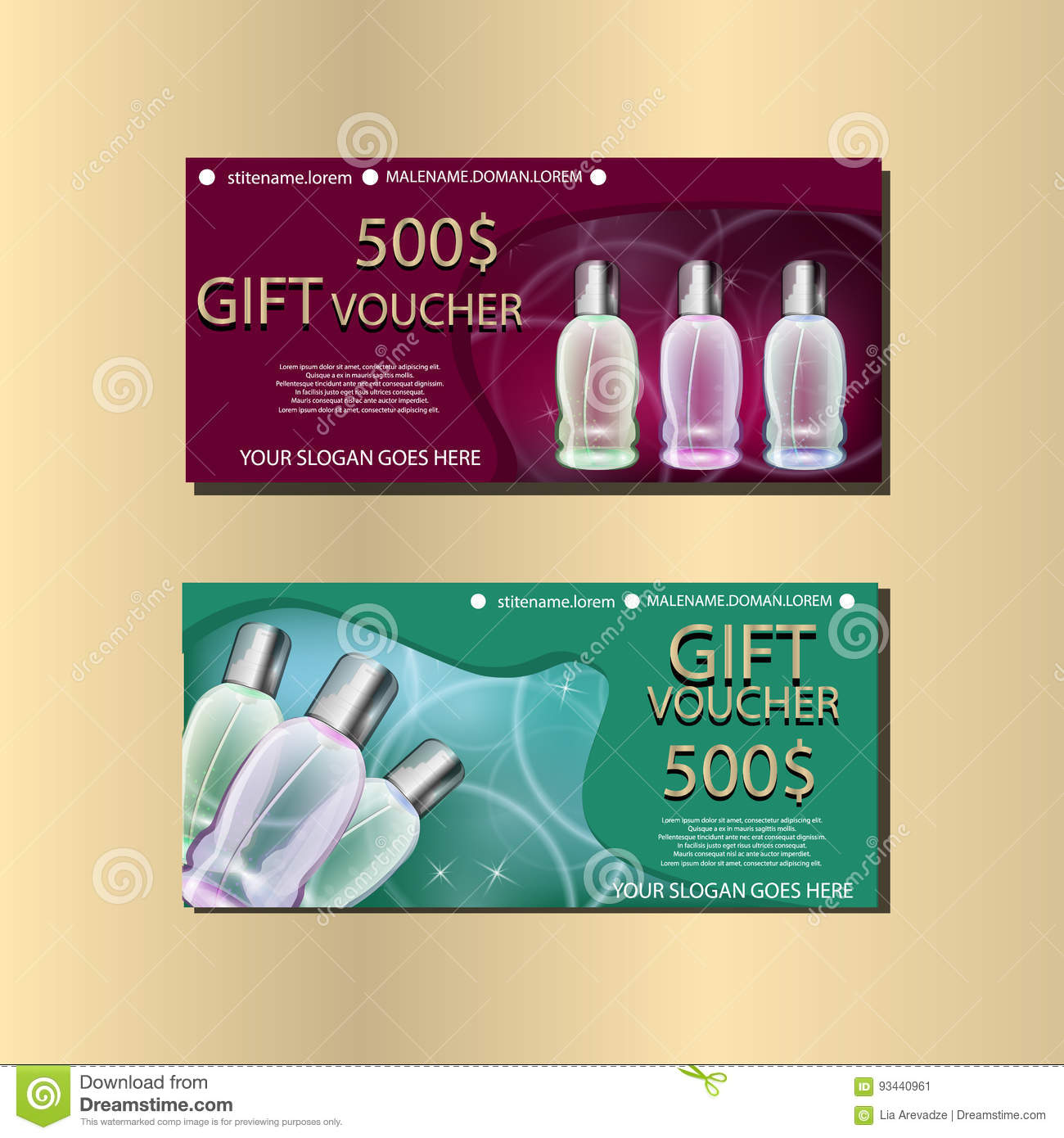 Gift voucher template with sparkls and wine bottles for your gift voucher template with sparkls and wine bottles for your designt royalty free vector yelopaper Gallery