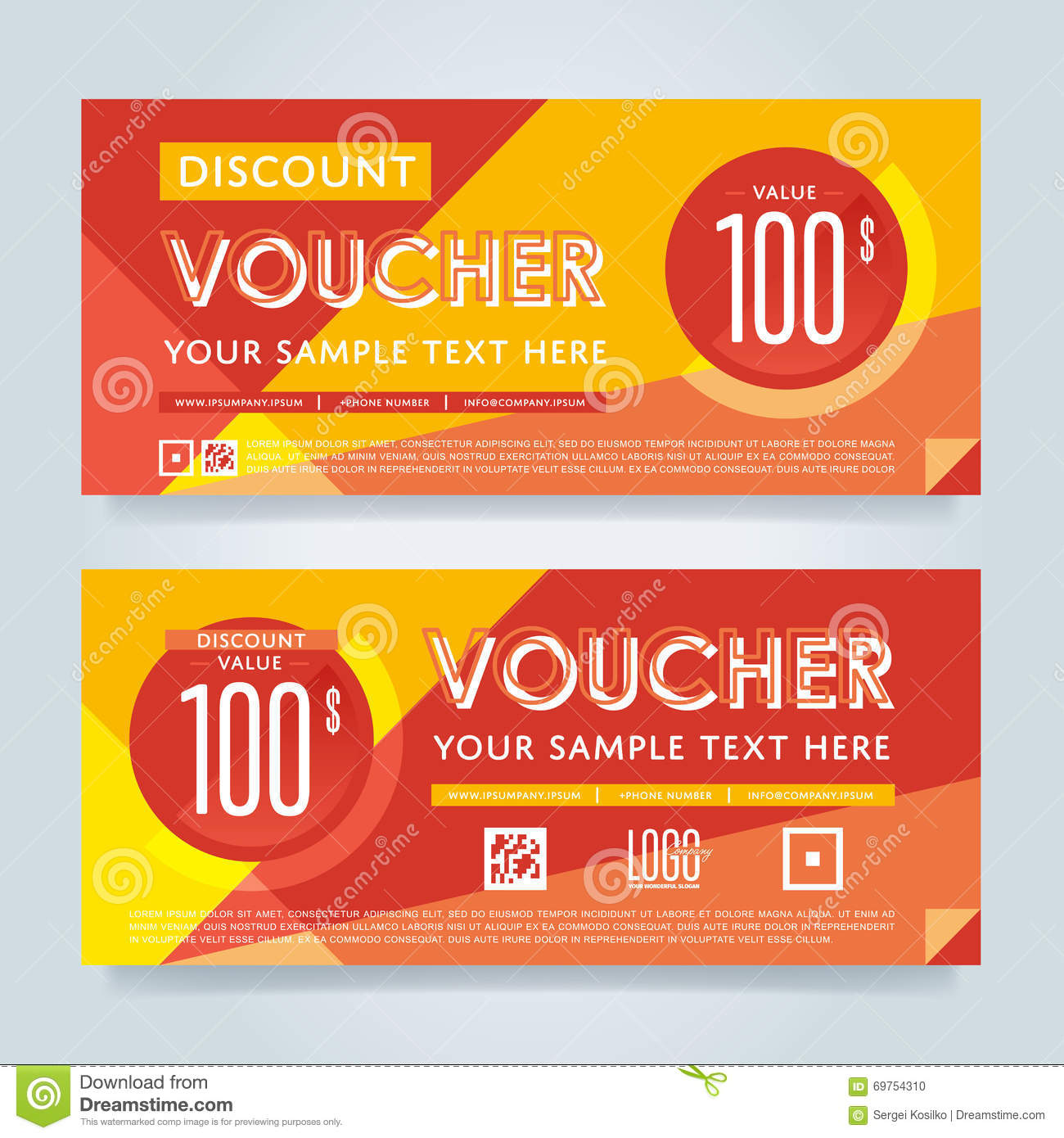 Gift Voucher Template, Vector Layout. Paper, Elegant.  Coupon Layouts