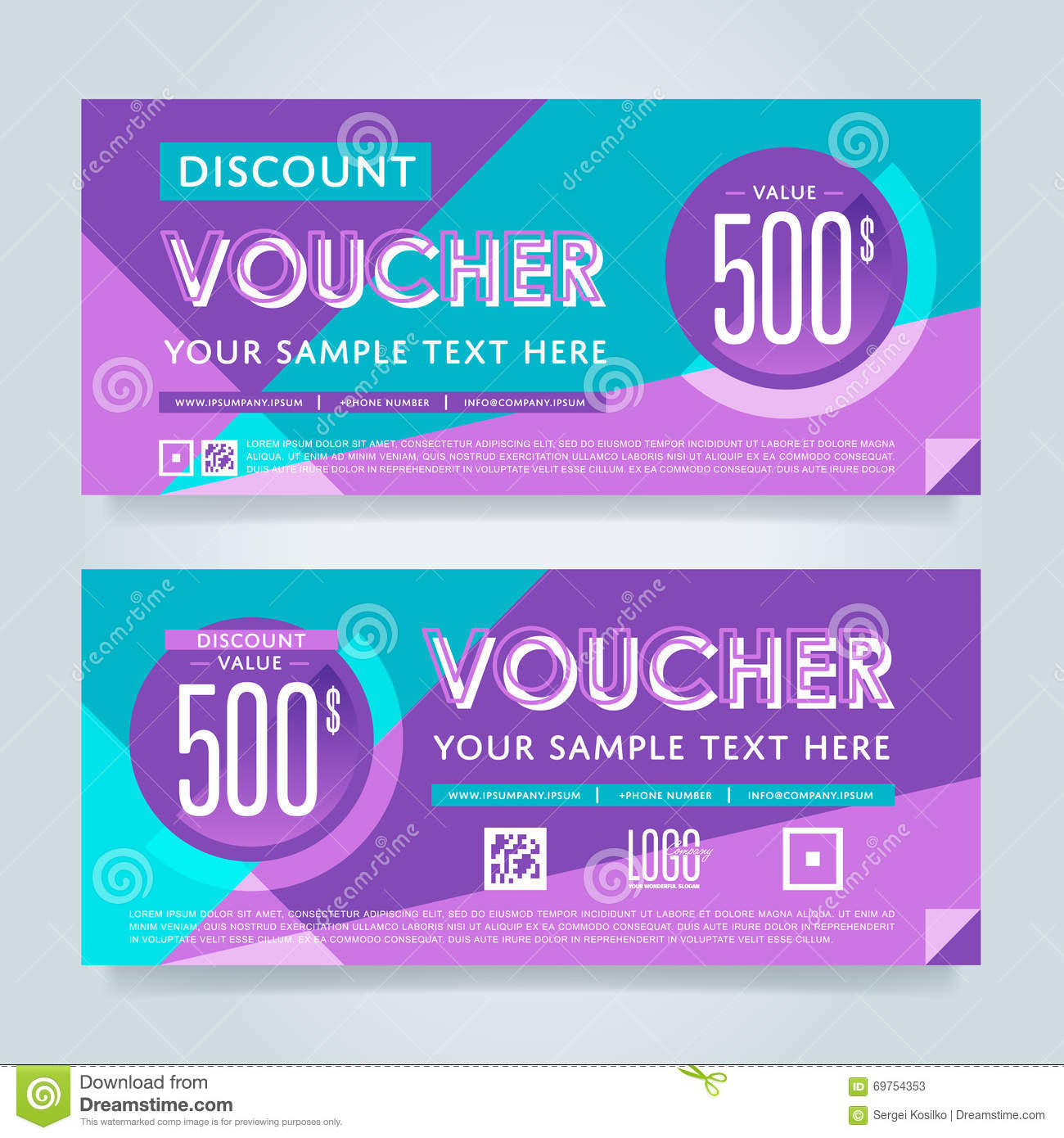 Gift voucher template vector layout stock vector illustration of gift discount voucher template vector layout special offer coupon business voucher layout accmission Image collections