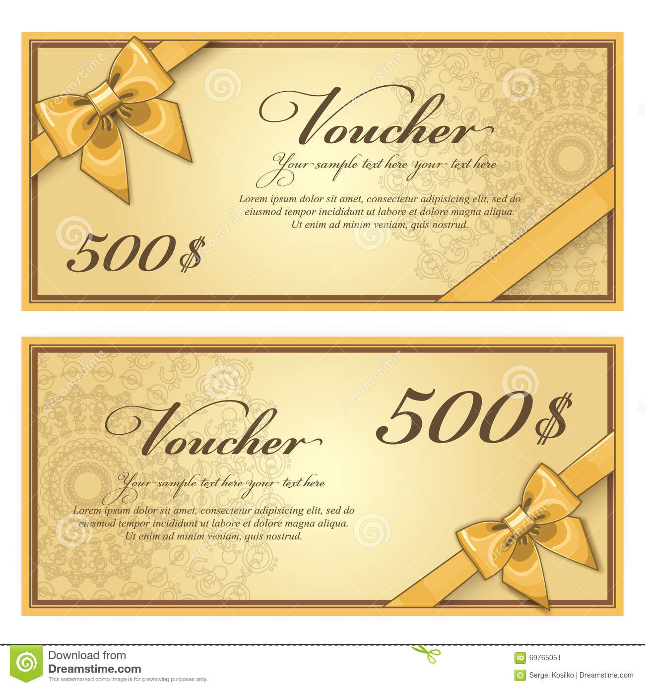 Lunch Voucher Template Yun56co Gift Voucher Template Vector Layout Discount  Special Offer Coupon Business Bow Gold  Fun Voucher Template