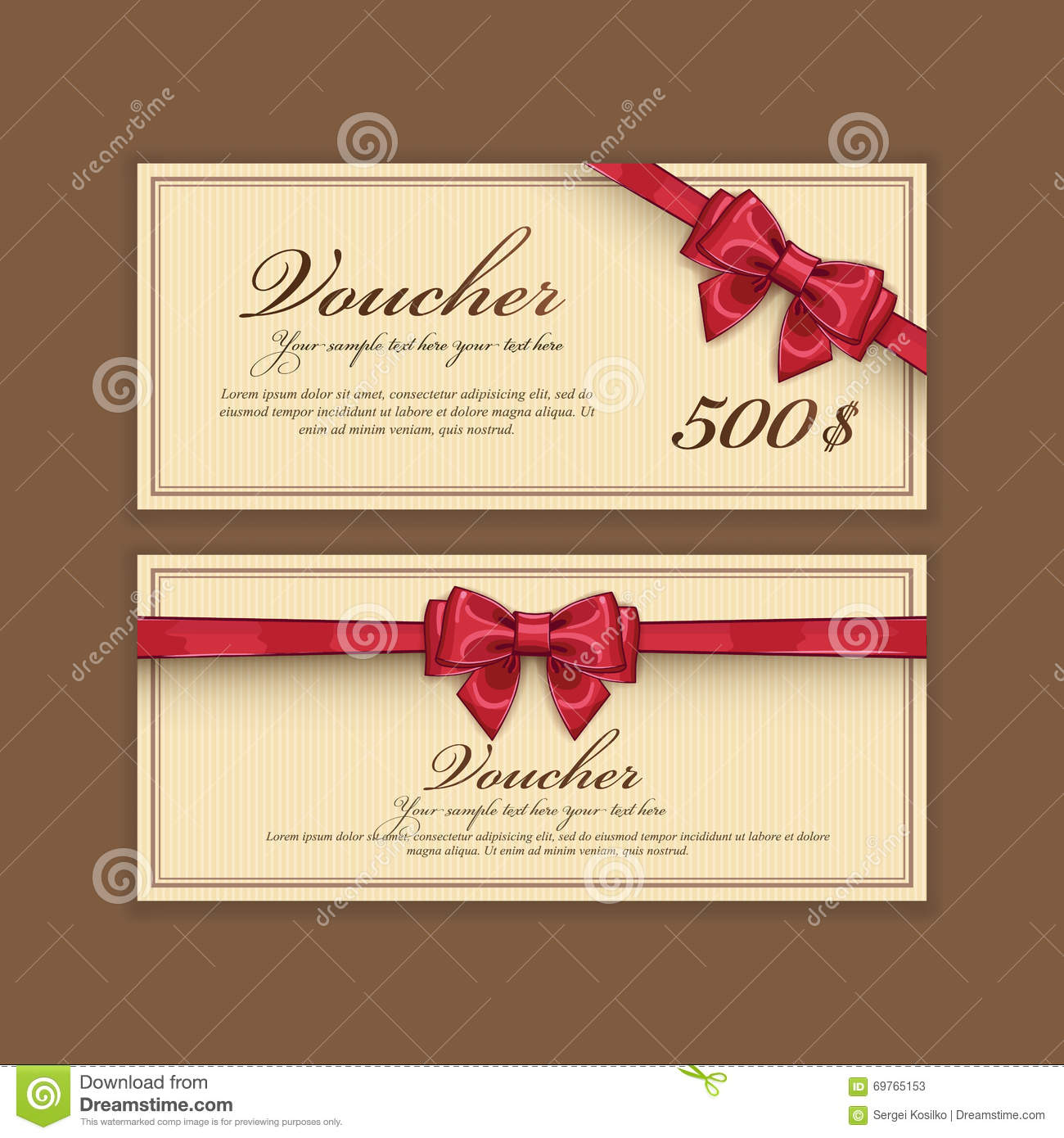 gift voucher template  vector layout stock vector