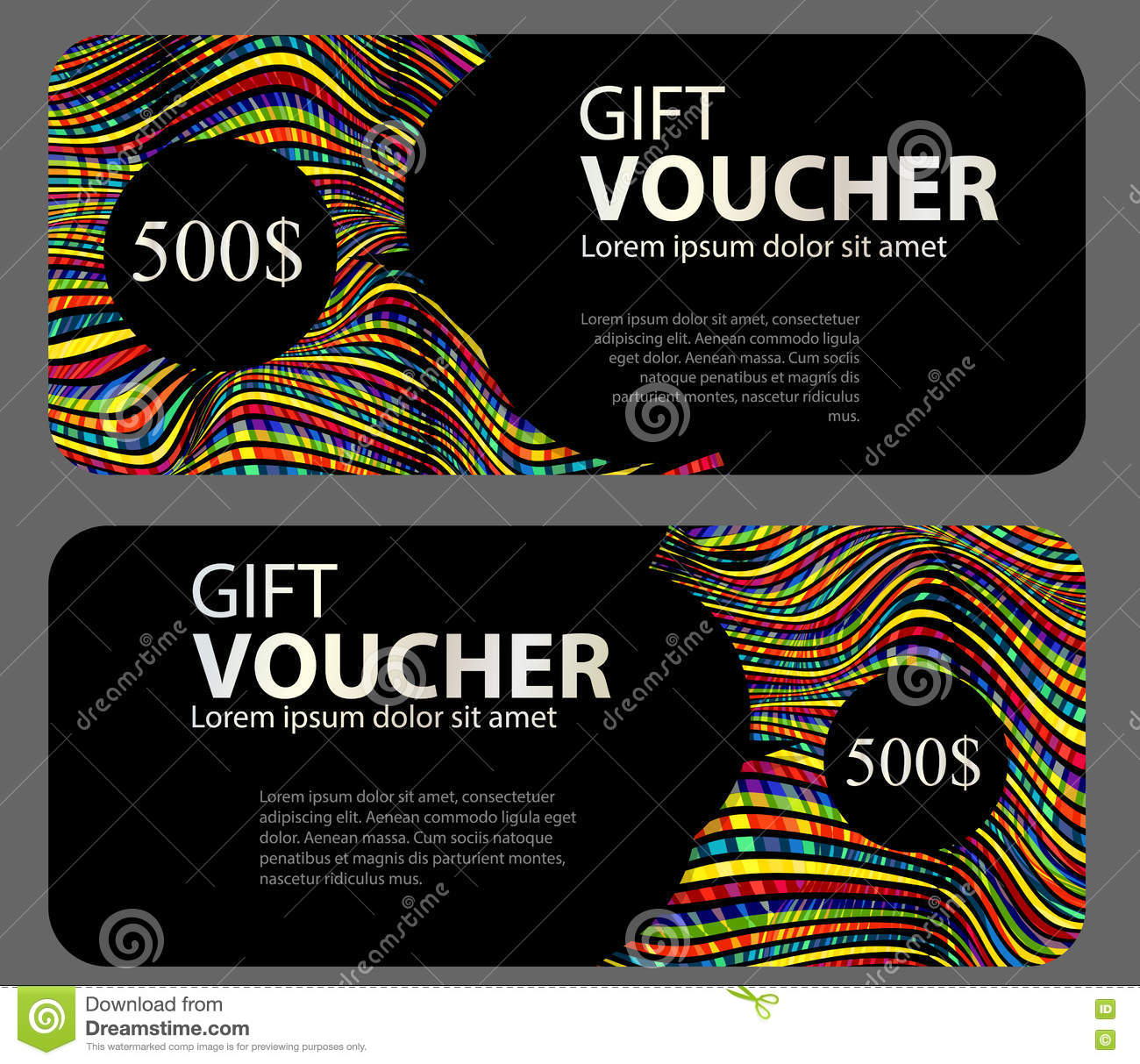 Gift Voucher Template For Your Business Vector Illustration Stock