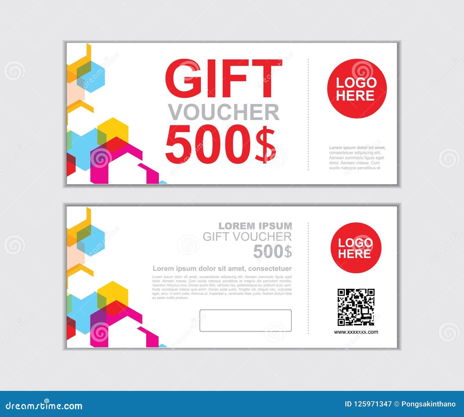 gift voucher vector design template for printing stock vector