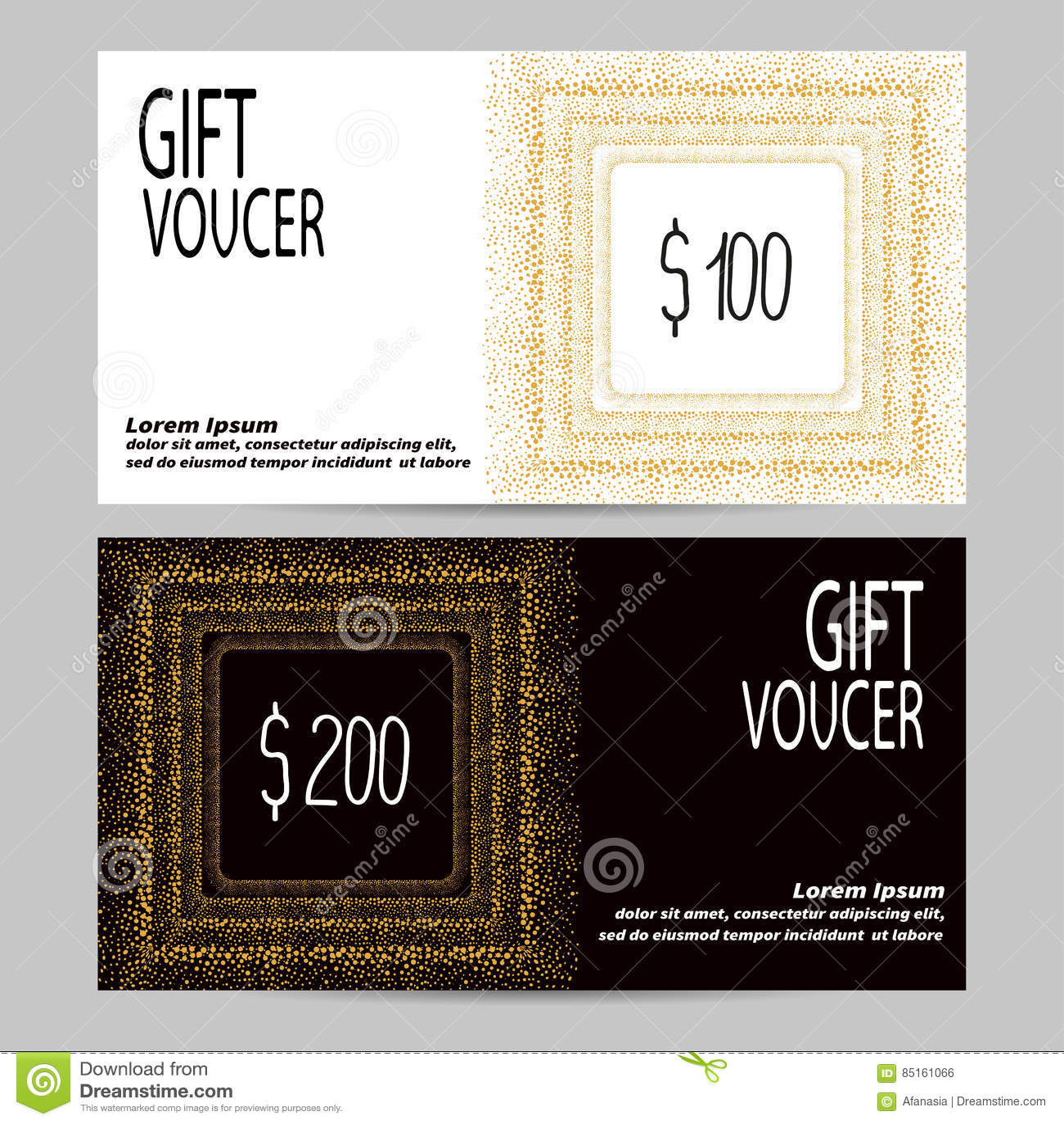 Gift voucher vector template in golden black and white colors download gift voucher vector template in golden black and white colors stock vector yadclub Gallery
