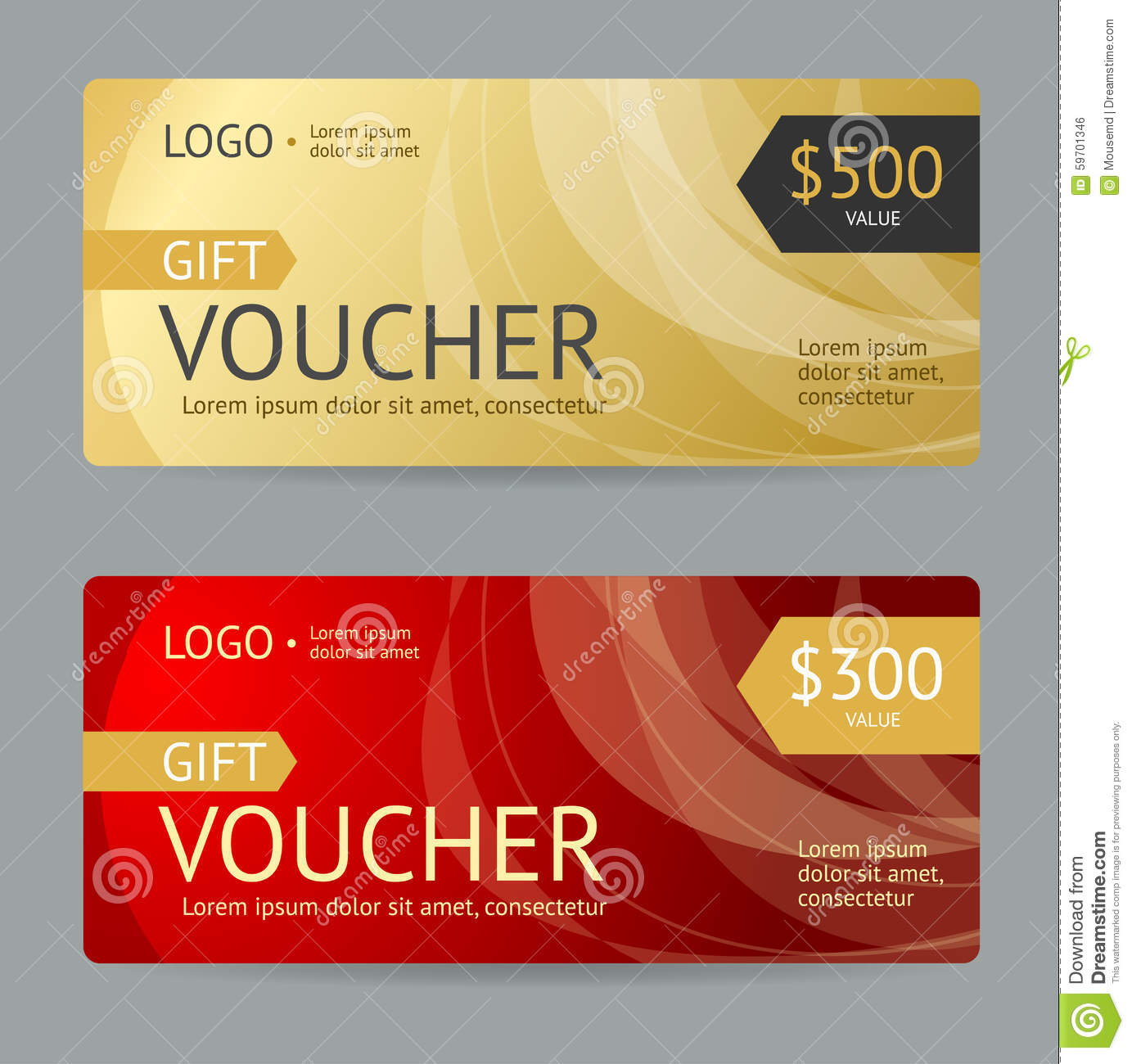 gift voucher  vector stock vector