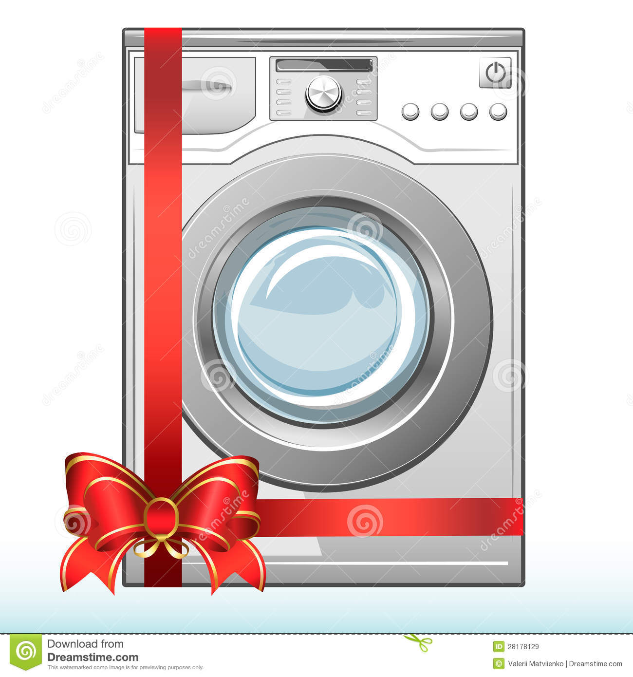 Gift Washing Machine. Sale. Royalty Free Stock Images - Image ...