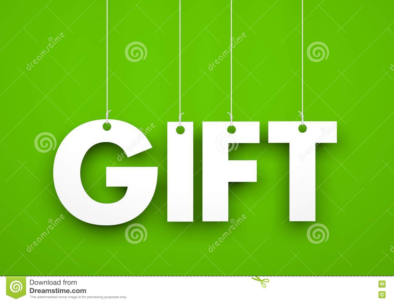 Gift word hanging on rope stock illustration image 77381450 gift word hanging on rope negle Gallery