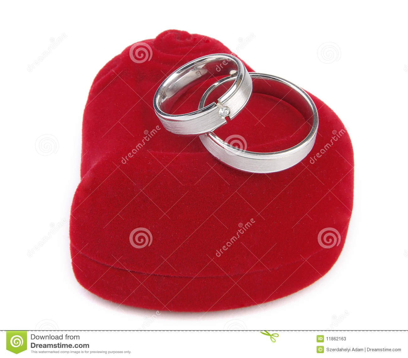 Gifta sig för cirklar för ask rött