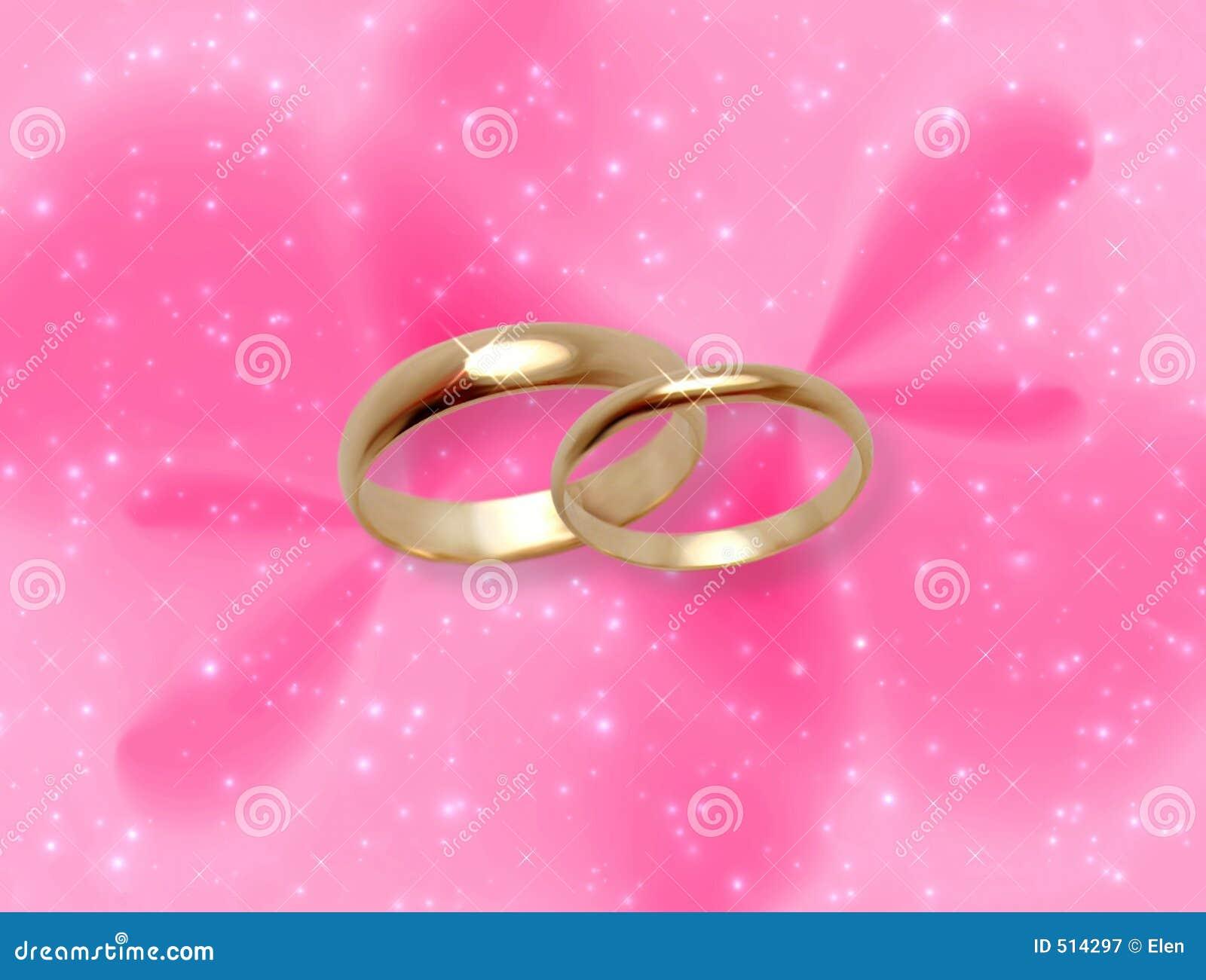 Gifta sig för cirklar för glöd rosa