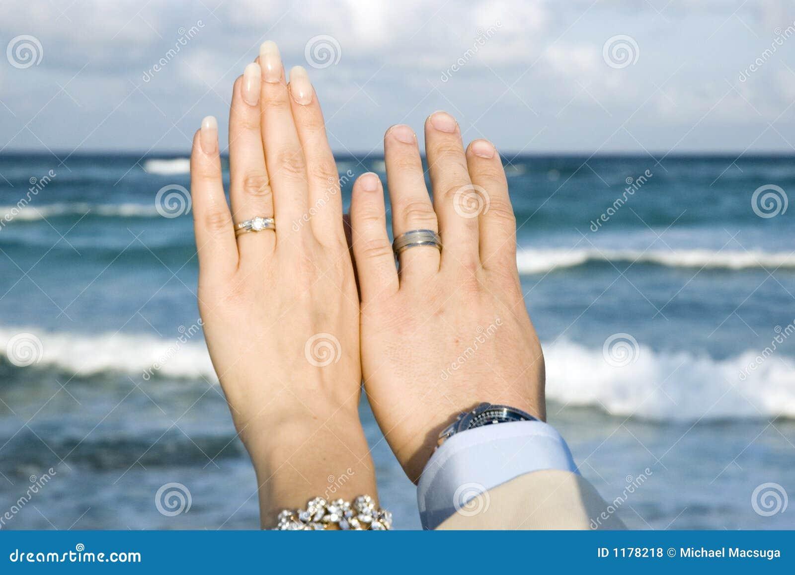 Gifta sig för cirklar för strand karibiskt