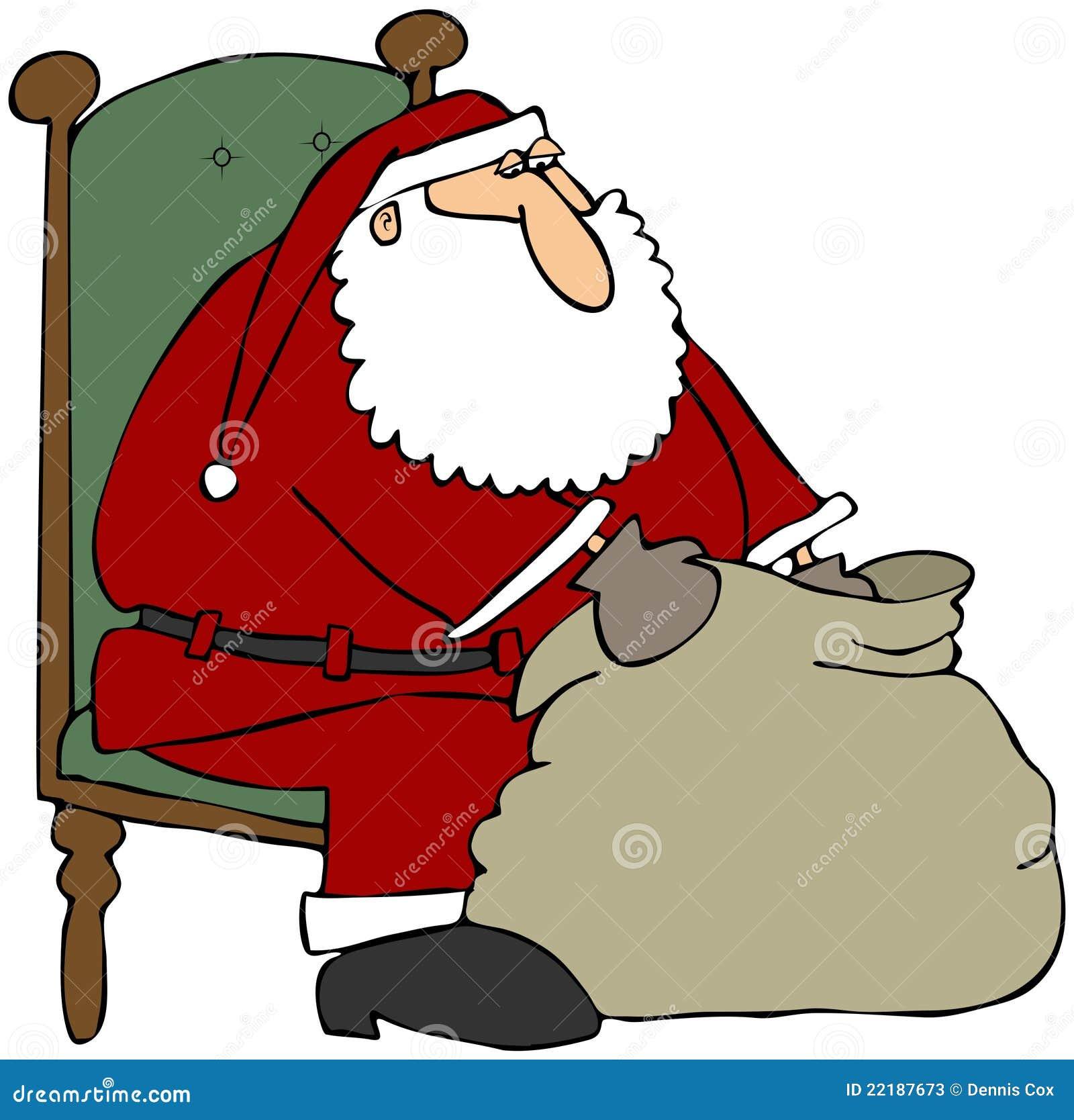 Giftbag το santa κοιτάγματός του